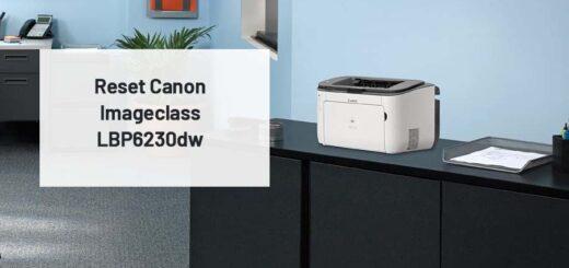 Reset Canon Imageclass LBP6230dw