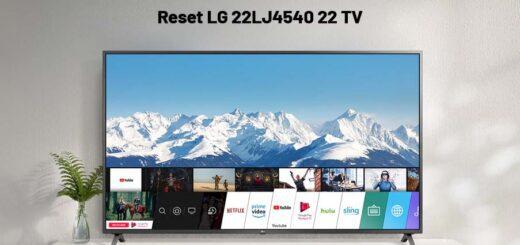 Reset LG 22LJ4540 22 TV