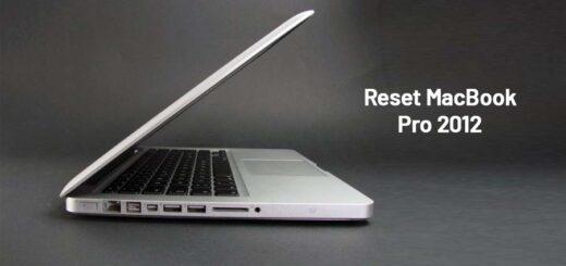 Reset MacBook Pro 2012