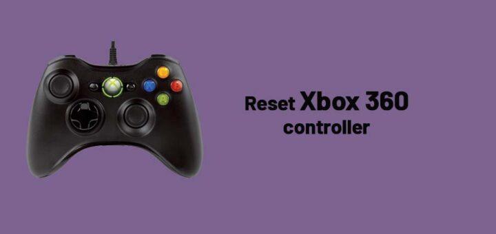 Reset Xbox 360 controller