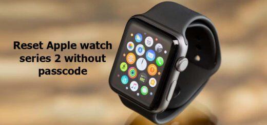 reset Apple watch series 2