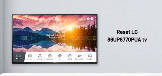 reset LG 86UP8770PUA tv