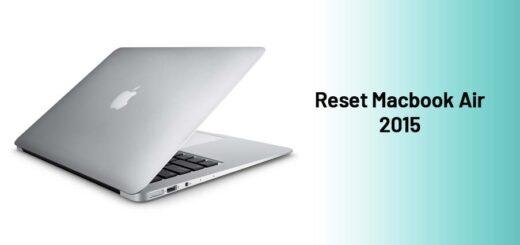 reset Macbook Air 2015