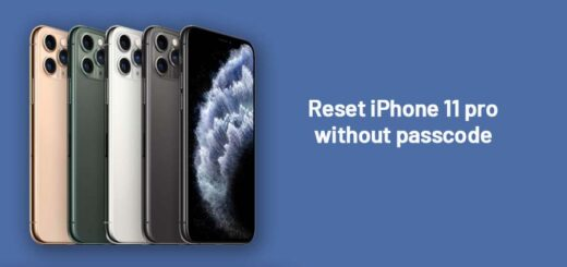 reset iPhone 11 pro without passcode