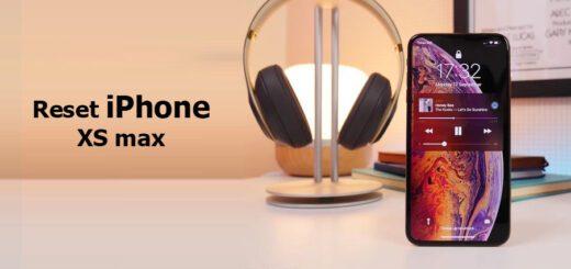 reset iPhone XS max