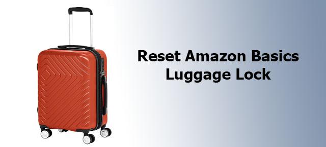 reset Amazon Basics luggage lock