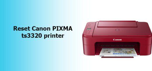reset Canon PIXMA ts3320