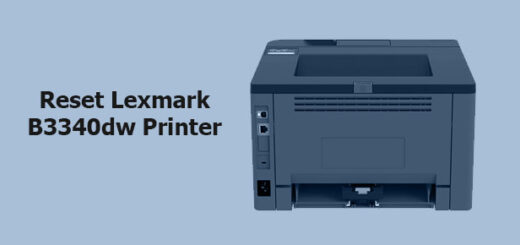 reset Lexmark B3340dw