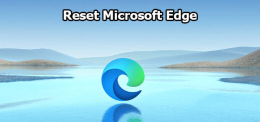reset Microsoft Edge