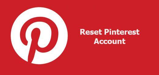 reset Pinterest account