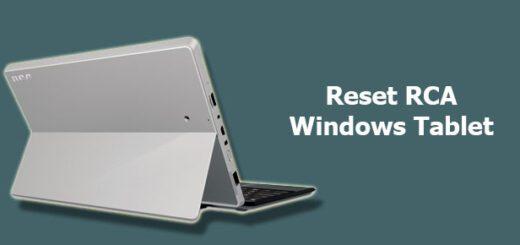 reset RCA windows tablet