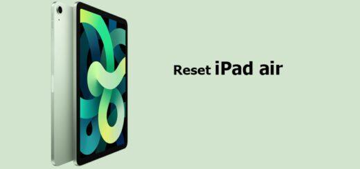 reset iPad air