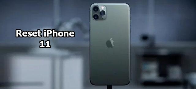 reset iPhone 11