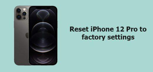 reset iPhone 12 pro