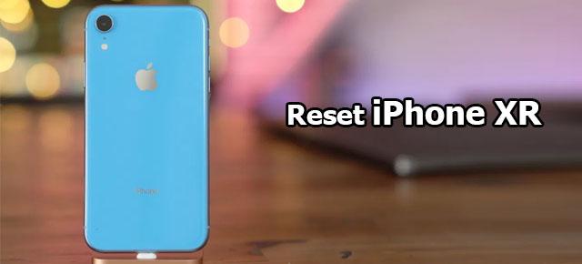 reset iPhone XR