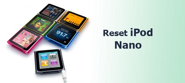 reset iPod Nano