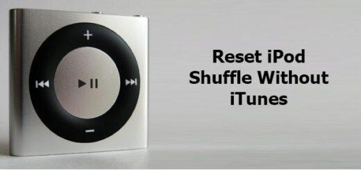 reset iPod shuffle