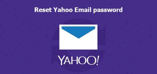 reset yahoo Email password