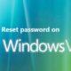 reset password on windows vista