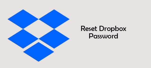 reset Dropbox password
