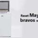 reset Maytag bravos washer