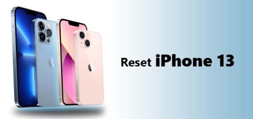 reset iPhone 13