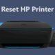 reset HP printer