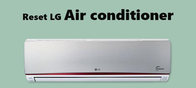 reset LG Air conditioner
