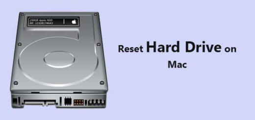 reset hard drive on Mac