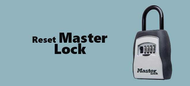 reset master lock